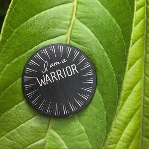 Origami owl large plate I am a Warrior